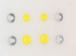 Silikon Lenkgummis, gelb